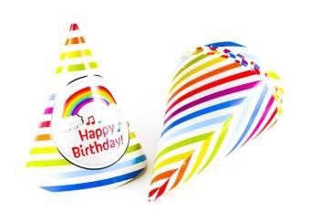 Happy Birthday Rainbow Hats - 10PC-0
