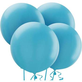 "36"" Pastel Light Blue Bladder Balloon - 1PC-0"