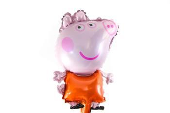 "Balloon on Stick Peppa Pig 14""-0"