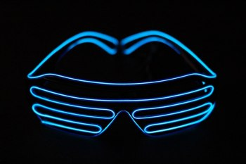 EL Wire LED Shutter Blue Shades-0