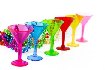 Neon Martini Shot Glasses - 1PC-0