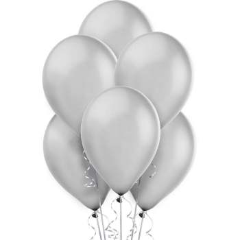 "12"" Metallic Silver Balloons - 20PC-0"