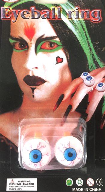 Halloween Eyes Rings - 2PC-0