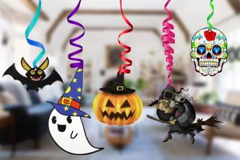 Halloween Swirl Decoration -12PC-0