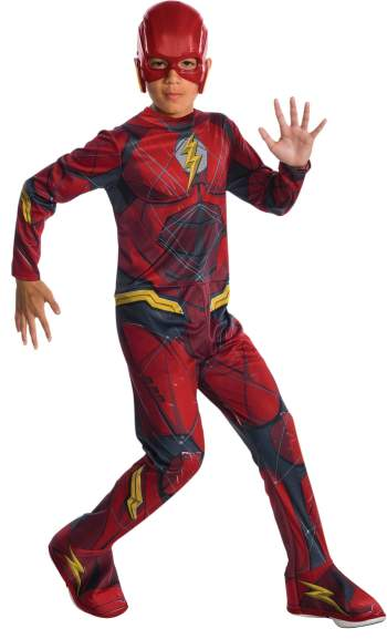 Kids Justice League Flash Costume Medium-0