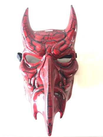 Red Long Nose Dracula Mask-0