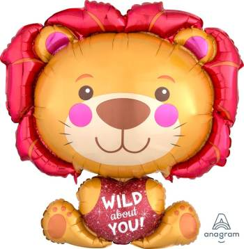 "Wild About You Lion Balloon 28"" P35-0"