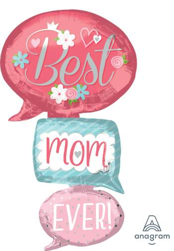 """Best Mom Ever Bubble Balloons 53"""" P70-0"""