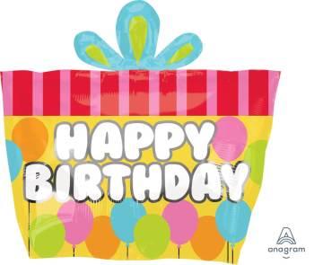 """Birthday Gift Balloons 18"""" S60-0"""