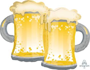 "Cheers Beer Mugs Balloons 32"" P35-0"