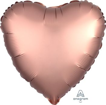 Satin Deluxe Rose Copper Heart S15-0