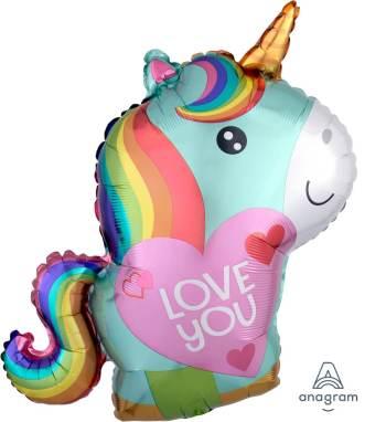 """Unicorn Love Balloons 18"""" S60-0"""