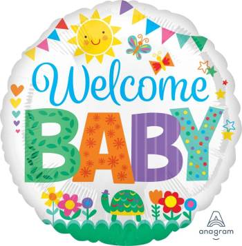 "Welcome Baby Cute Icone Balloon 18"" S40-0"