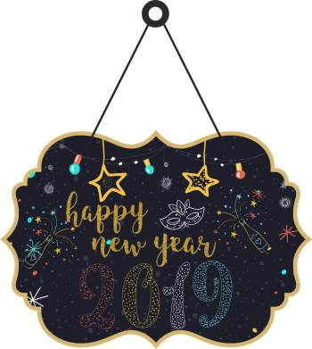 Happy New Year 2019 Hanging Cutout-0