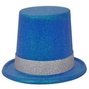 Neon Blue Glitter Hat_702534
