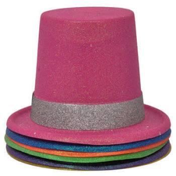 Neon Pink Glitter Hat_702530