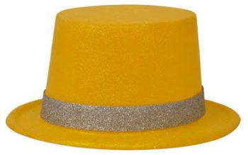 Neon Yellow Glitter Hat_702532