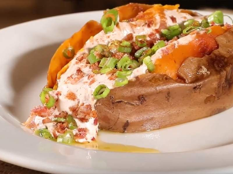 WannaRub Baked Sweet Potato