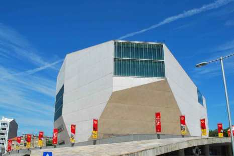 opvallend diamantvormig silhouet van het Casa da Musica