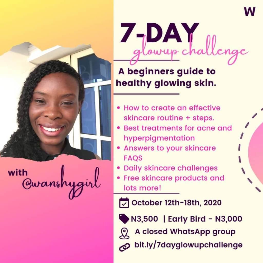 Healthy skincare challenge flyer