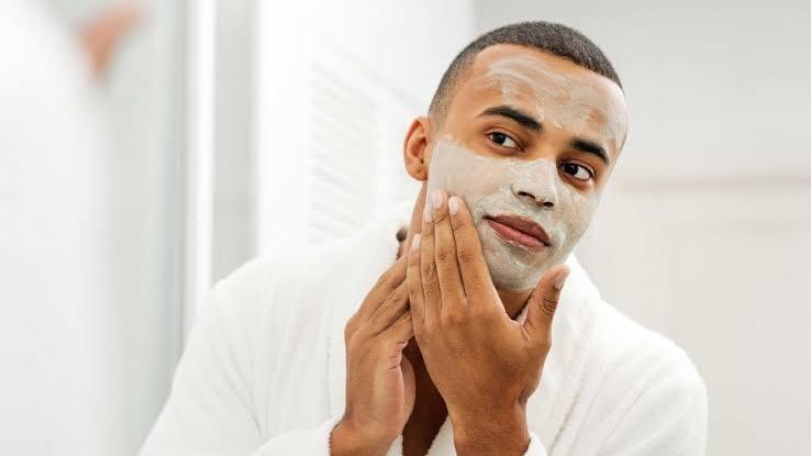 black man clay mask