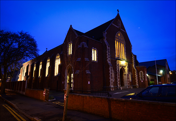 """© Geoff Wilkinson, who writes on Wanstead Daily Photo: """"This is another one of those pictures that I have been waiting ages to take.  It's a building that requires the right light and conditions to make it come to life.  This combination of the night sky and the lights burning bright in the church seemed to me to be just right."""""""
