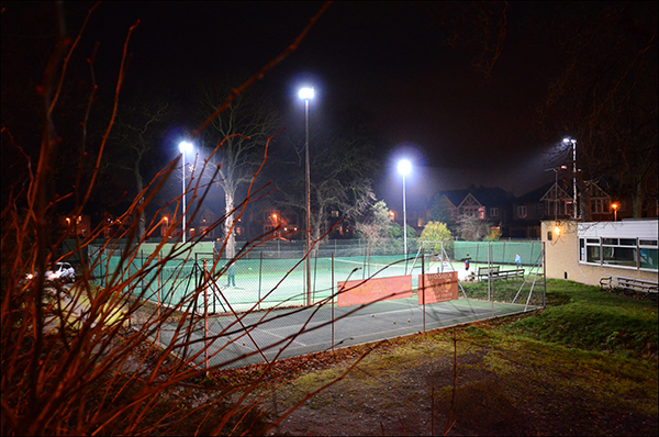 """© Geoff Wilkinson, who writes on his Wanstead Daily Photo blog: """"Surprised to see these people on the tennis courts of Aldersbrook   Lawn Tennis Club on the Lake House Estate at this time of the year but I admire their enthusiasm. Power to them, its good to see."""" Clearly this was pre-snow."""