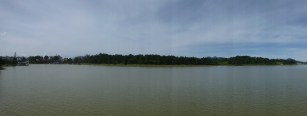 a view of the central lake at Dalat