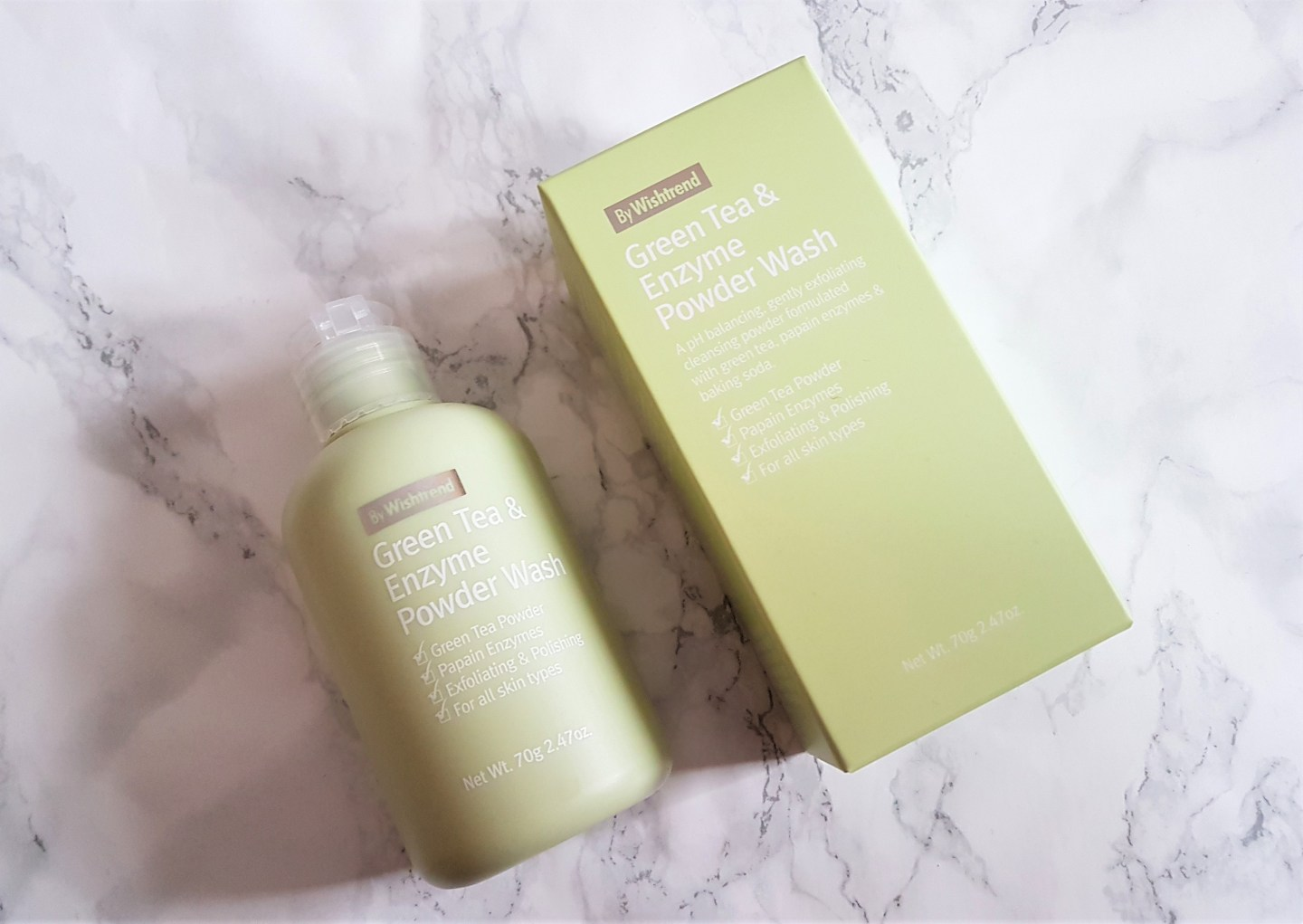 REVIEW: BY WISHTREND Green Tea & Enzyme Powder Wash + comparison with other enzyme powders