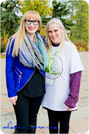 Alexis Marie Chute and Cheryl Slater-Roberts. Cheryl is the director of H.E.A.R.T.S. Baby Loss Support Program and the  founder of the Baby Steps Memorial Walk.  Photograph copyright Alexis Marie Chute