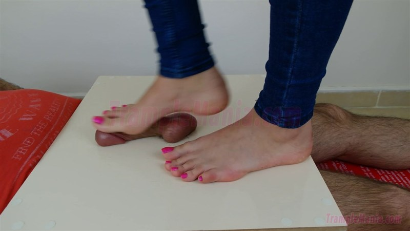 Crystal's Barefoot Cock & Ball Trample