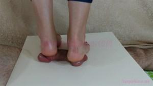 Barefoot Heel Cock & Ball Trample