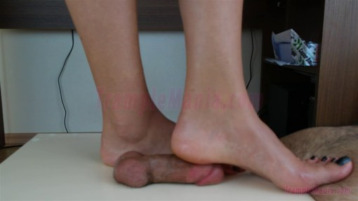 Crystal's Bare Feet Cock Trampling
