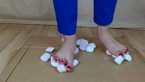 Carmen's Barefoot Marshmallow Crushing Video