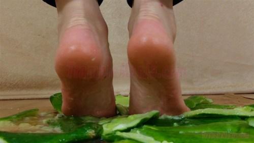 Carmen's Barefoot Cucumber Crushing Video