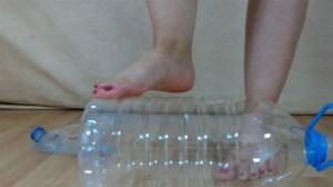 Elisa's Barefoot Plastic Bottle Crush