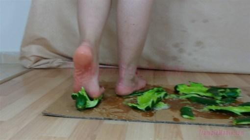 Elisa's Barefoot Cucumber Crushing