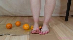 Elisa's Barefoot Orange Crushing