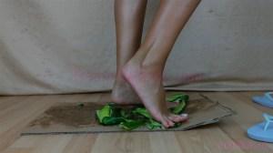 Diana's Barefoot Cucumber Crush Fetish