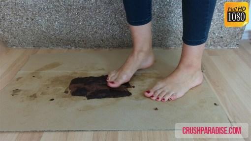 Barbara's Bare Feet Cake Crushing