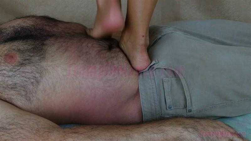 Diana's Painful Barefoot Trampling