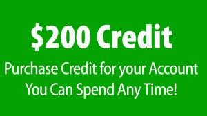 $200 Credit