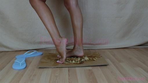 Diana's Barefoot Cake Crushing Fetish
