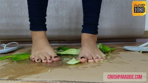 Crystal's Food Crushing in Flip Flops