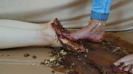 Crystal Crushes Chocolate Cake on Zelda's Soles
