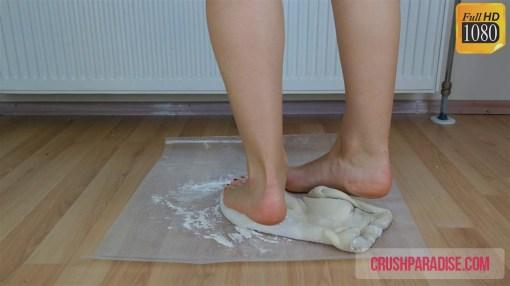 Tiffany's Bare Feet Dough Crushing Video