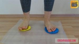 Zelda's Barefoot Play Dough Crush Fetish