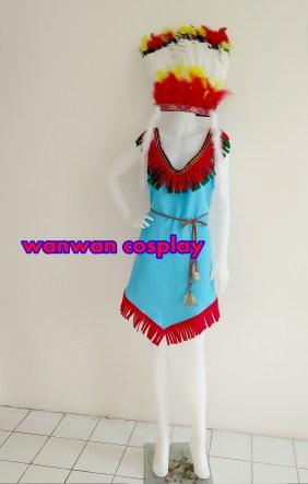 ชุดอินเดียแดง ชุดคนป่า ให้เช่าราคาถูก 094-920-9400