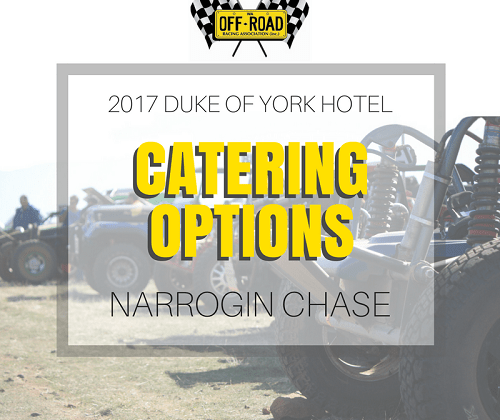 2017 WAORRA Narrogin Chase Catering Options