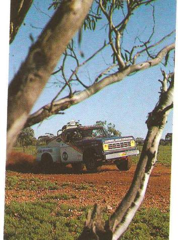 Cochrane/Murray in the OME Dodge at Waikerie in 1983